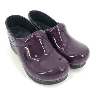 Dansko Kids Purple Patent Clogs SZ 32 2/2.5 US